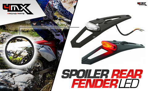 Polisport Rear Fender with LED Light