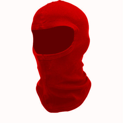 Red Cotton Motorcycle Balaclava