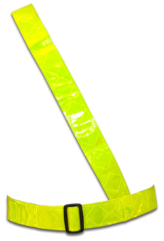 Sam Browne Yellow Fluorescent Hi Vis Belt - One Size (Adult)