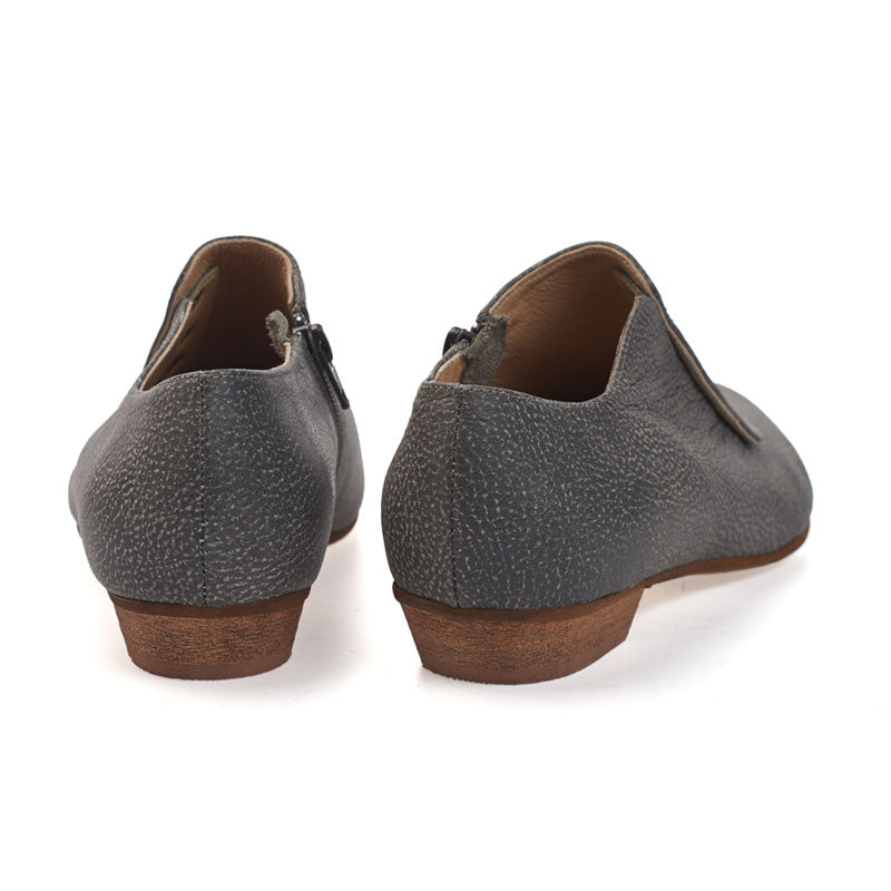 Grace, Grey shoes, handmade, flats, leather shoes