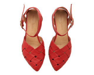 Sophie sandals, Red, Made to order 3-4 weeks
