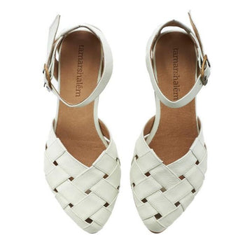 Sophie sandals, White, Made to order 3-4 weeks