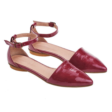 Olivia, Ruby pink, magenta, handmade leather sandals