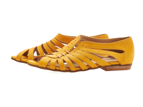Gilly sandals, yellow, Made to order 3-4 weeks