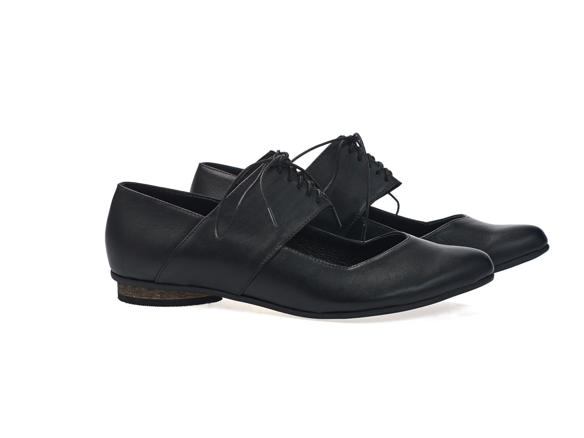 VEGAN Vicky balerina shoes, Black
