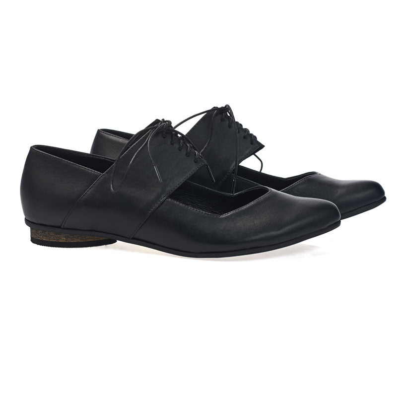 Black ballerina shoes, Vicky