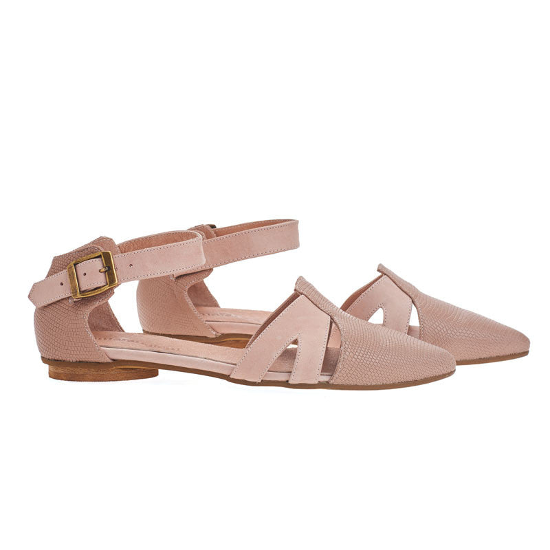 Vivian, blush pink pointed toe sandals, Made to order 3-4 weeks