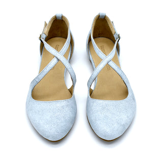 Camila summer flats in sky blue