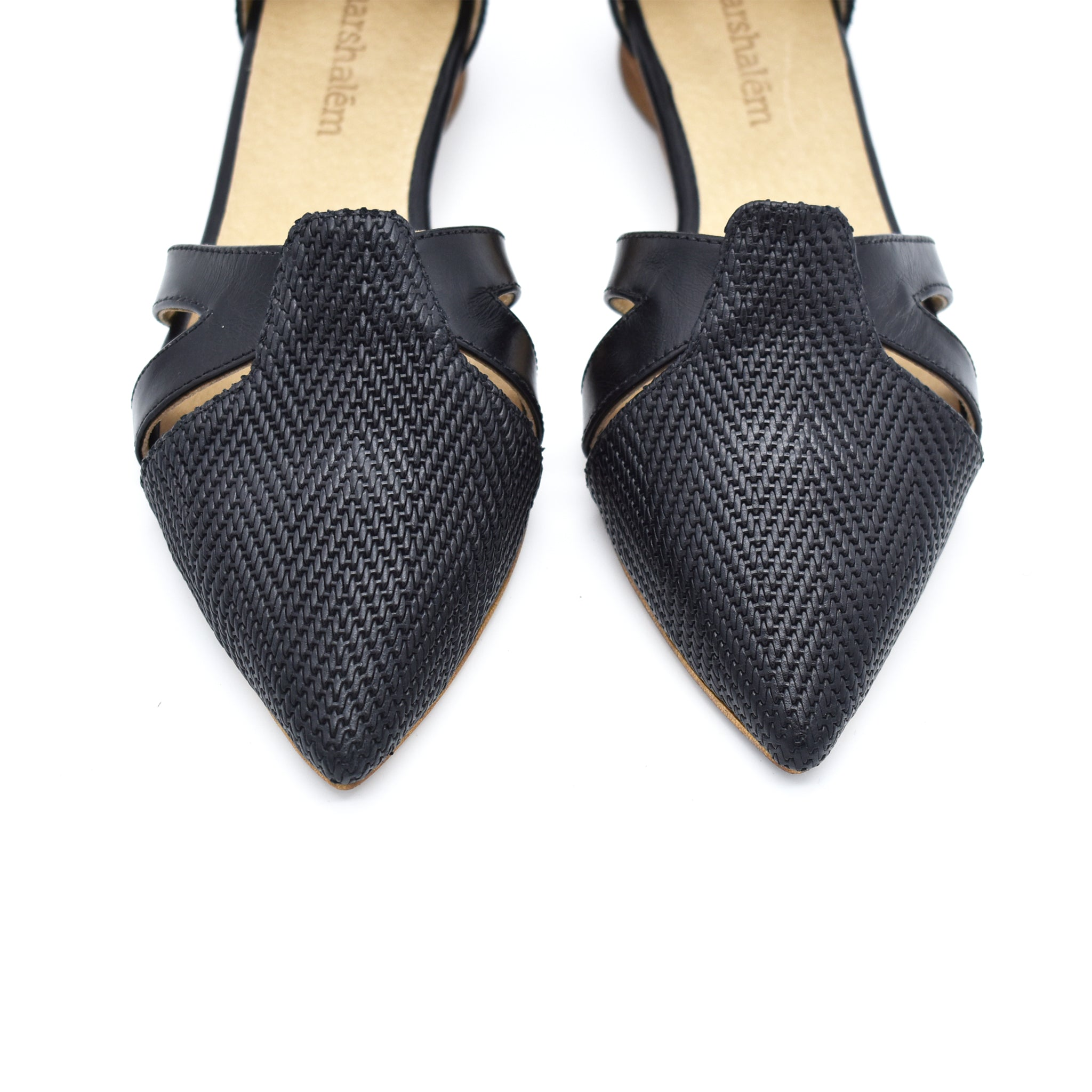 Vivian buckle closure sandals in black, Made to order 3-4 weeks