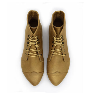 Shabby gold lace up oxfords, Polly Jean