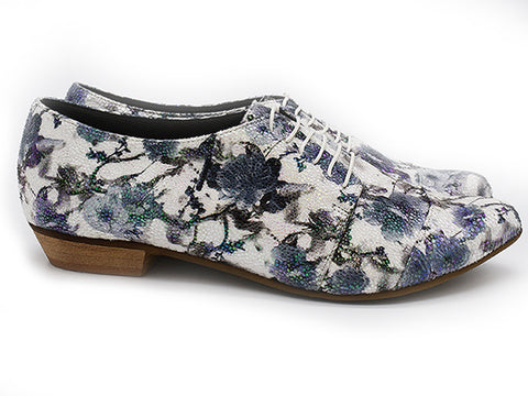 Floral vegan Oxford shoes, Polly Jean blossom