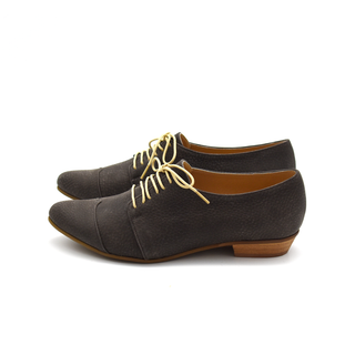 Grayish brown oxfords, Polly Jean