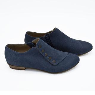 Grace leather flats in dusty blue