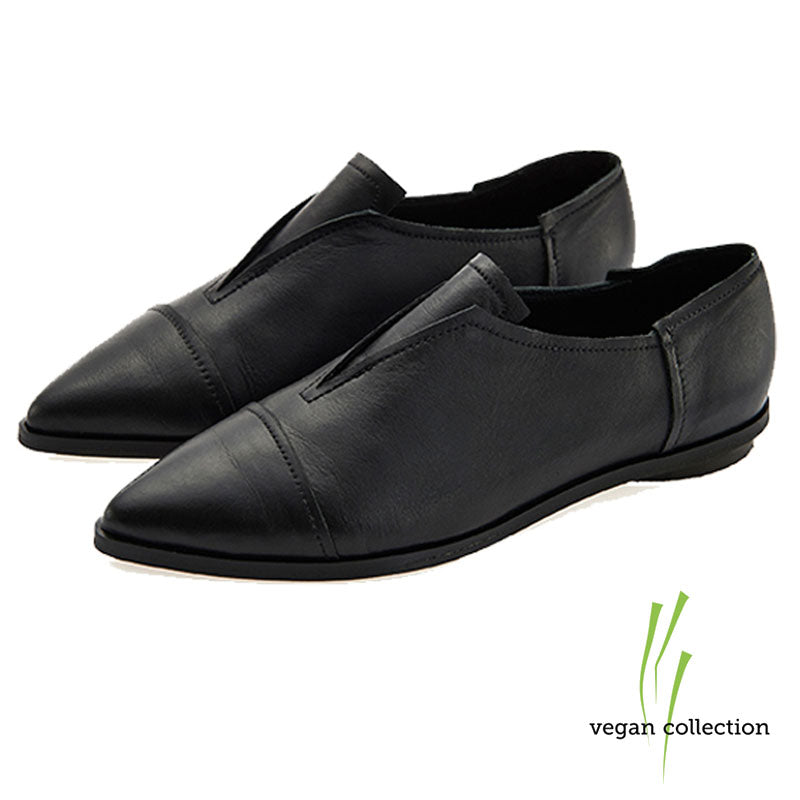 VEGAN Stella flat shoes, Black