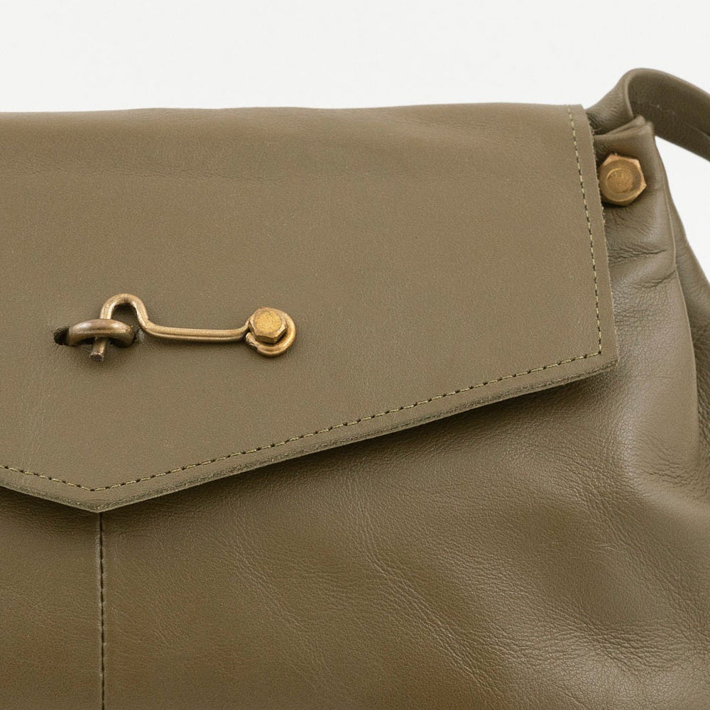 Olive green leather bag