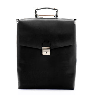 BLACK FRIDAY SALE Black leather laptop bag