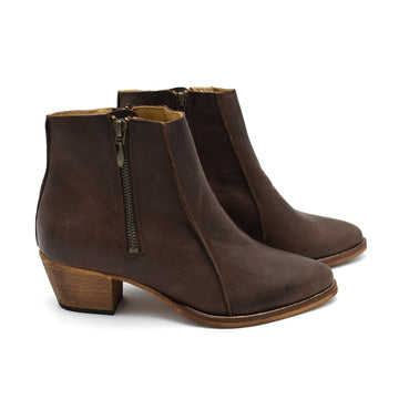 Heeled ankle boots, Sheryl in brown