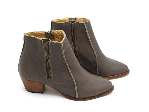 Heeled ankle boots, Sheryl in gray