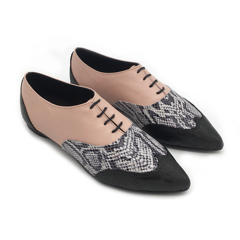 Classic  pointy oxfords, Valerie pink