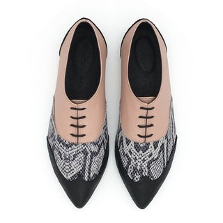BLACK FRIDAY SALE Classic  pointy oxfords, Valerie pink