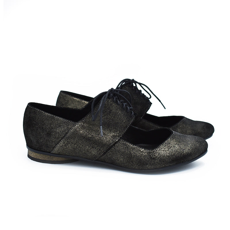 Ballerina shoes in sparkle black, Vicky
