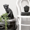 Monkey bowl black, resin home decor in lifestyle shot