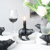 Bear Candle Holder - Black