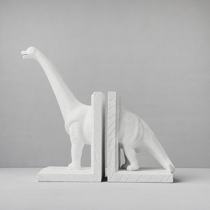 Diplodocus Bookends - White