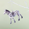 Wild Glitter Zebra Christmas Decoration