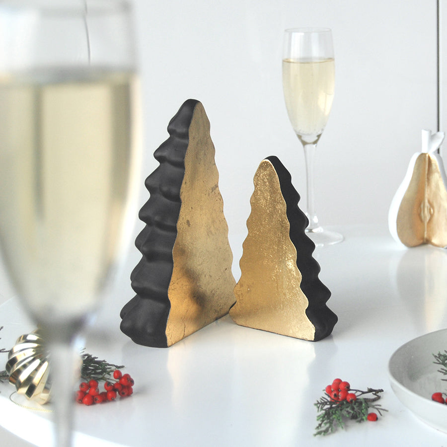 Christmas Tree Set - Black/Gold