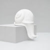 Novelty resin crawling off the shelf snail home decor in white