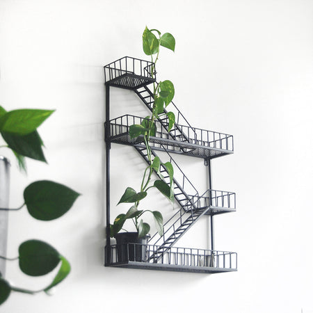 Fire Escape Shelf Planter - Black