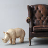 Giant Rhino in gold. Large resin animal. Featured on The Block 2017 bedroom reveal