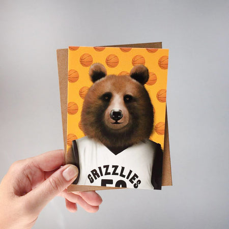 GREETING CARD - Bear Portrait