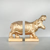 Hippo Bookend Set - Gold