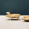 Resin pig in gold by White Moose homeware and home decor piece