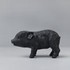 resin pig money box in black by White Moose for Kids Bedroom decor