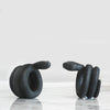 Snake napkin rings set in black resin by White Moose. Dining room table decor