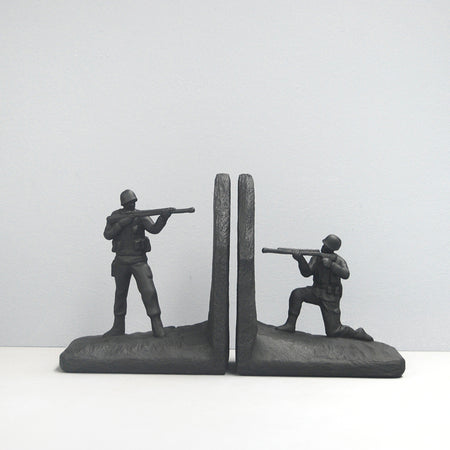 Soldier Bookends - Black