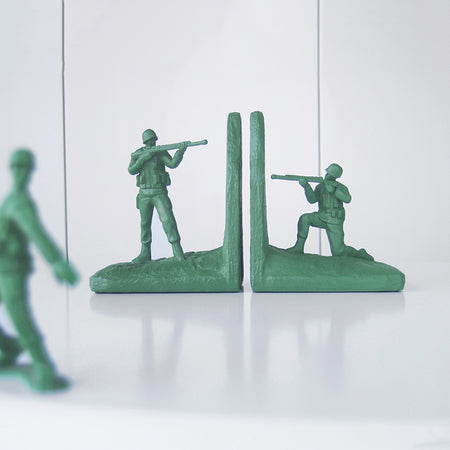 Soldier Bookends - Green