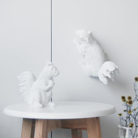 Squirrel Twin Set - White