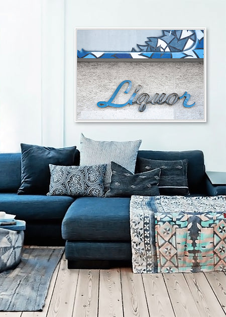 Large Framed Canvas Print - Liquor