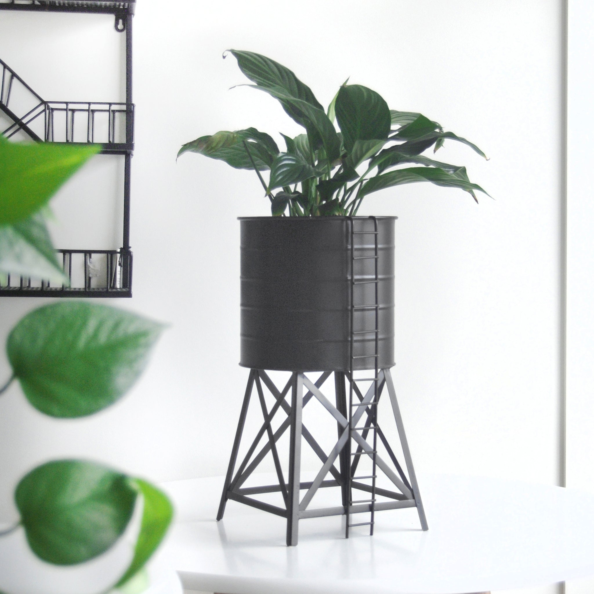 Water Tower Planter - Black