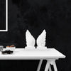 Wing Bookends - White