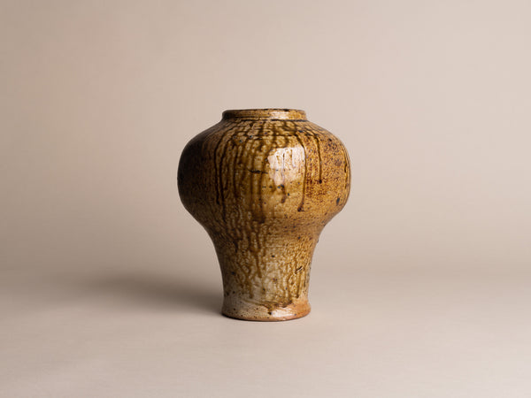 Vase meiping de Pierre Digan à La Borne, France (vers 1975)..Meiping Vase by Pierre Digan at La Borne, France (circa 1975)