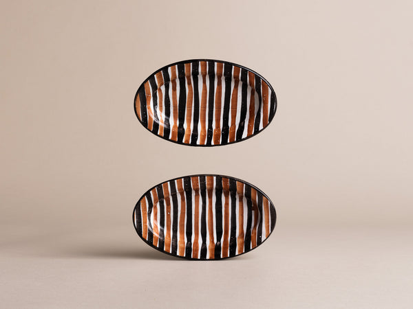 Paire de coupes de Robert Picault, France (vers 1948)..Set of 2 oval bowls by Robert Picault, France (circa 1948)