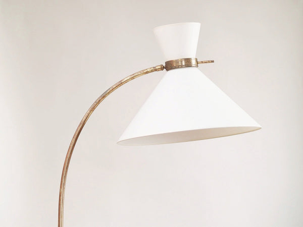 Grand lampadaire moderniste par Stablet, France (vers 1950)..Modernist Stablet floor lamp, France (circa 1950)