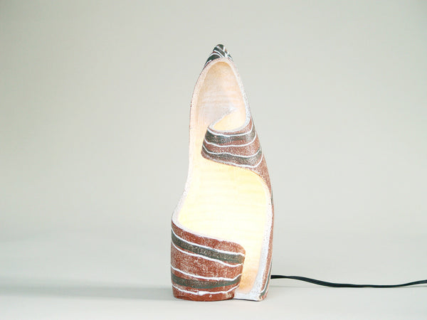 Lampe&#x2011Sculpture des Potiers d'Accolay, France (vers 1957)..Sculptural lamp by Les Potiers d'Accolay, France (Circa 1957)