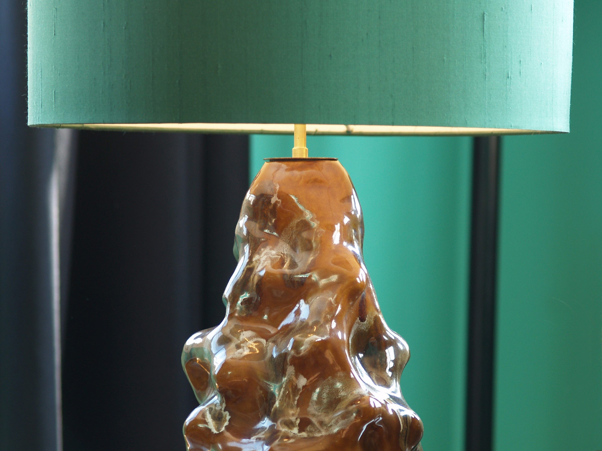 Lampe germinative de Lucien Arnaud, France (1949)..Carriès School Lamp by Lucien Arnaud, France (1949)