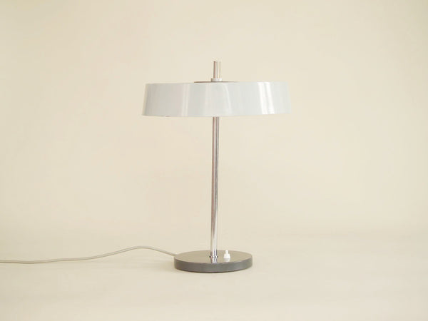 Lampe de table moderniste attribuée à Louis Kalff pour Philips, Pays-Bas (vers 1960)..Modernist minimalist Lamp attributed to Louis Kalff for Philips, Netherlands (circa 1960)